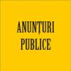 Anunțuri publice